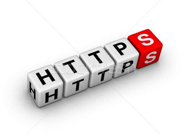 Hypertext overdragen protocol beveiligde computer server Stockfoto © almagami