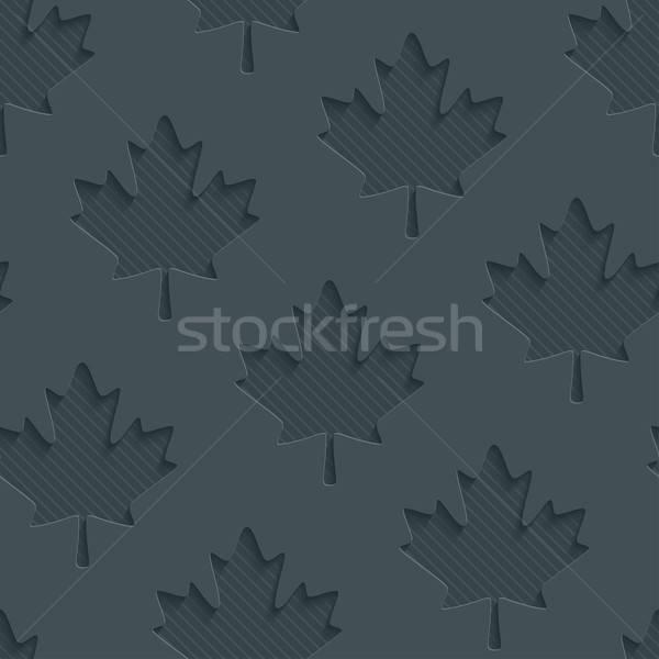 Dark gray maple leaves wallpaper. Stock photo © almagami