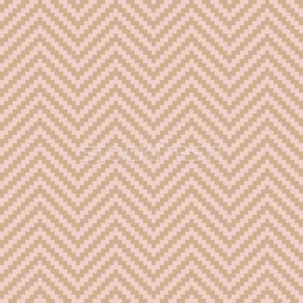 Chevron Pixel Art Seamless Pattern. Stock photo © almagami