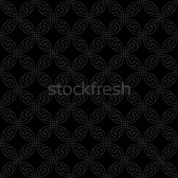 Neutraal naadloos celtic patroon lineair meetkundig Stockfoto © almagami