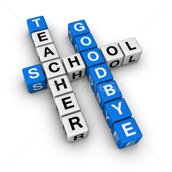 до свидания школы студент окончания цвета белый Сток-фото © almagami