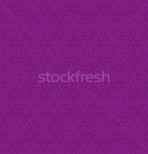 Kwiatowy ozdoba fioletowy neutralny nowoczesne Zdjęcia stock © almagami