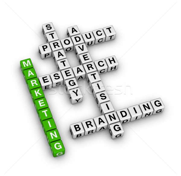 Produit marketing affaires vert Ouvrir la société Photo stock © almagami