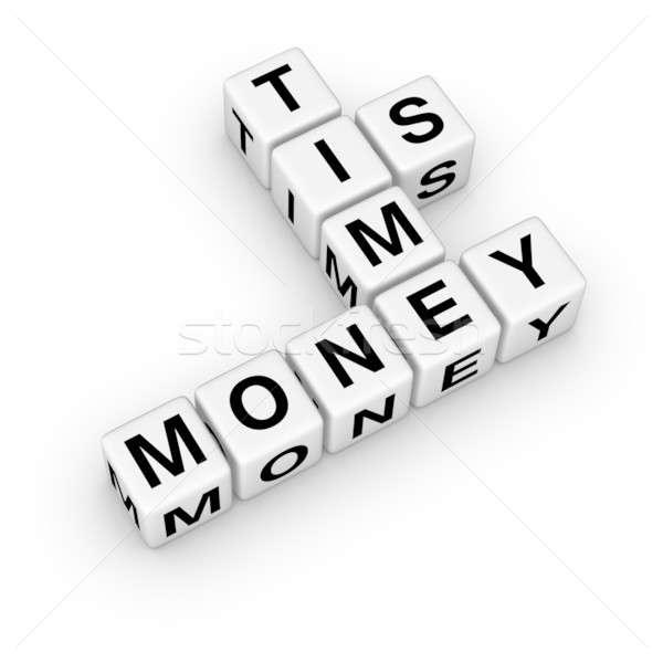 Tijd is geld business geld teken tijd brief Stockfoto © almagami
