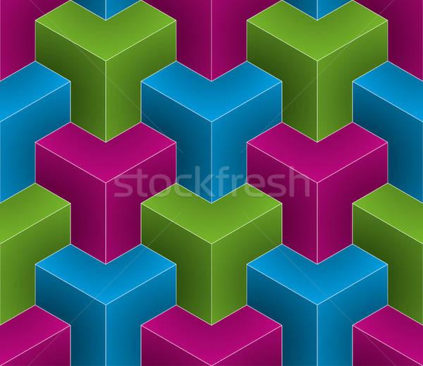 Isométrica 3D textura Foto stock © almagami