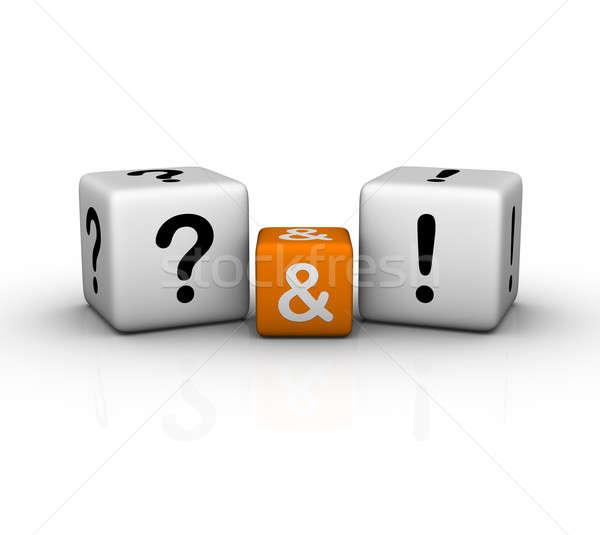 ストックフォト: 質問 · 3D · クロスワード · オレンジ · インターネット