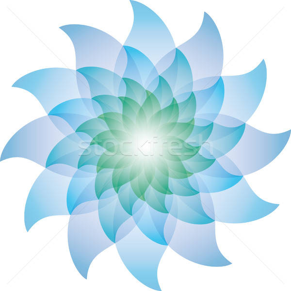Beautiful Blue Lotus Flower Icon. Stock photo © almagami