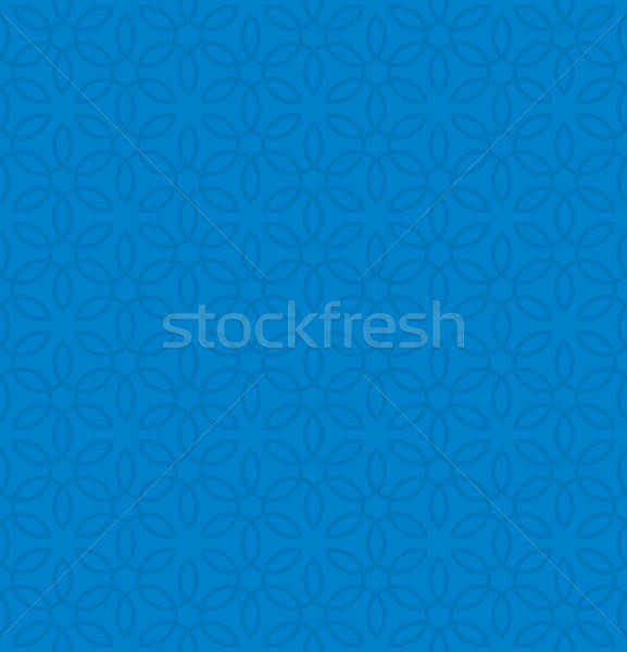 Floral ornament. Blue Neutral Seamless Pattern for Modern Design Stock photo © almagami