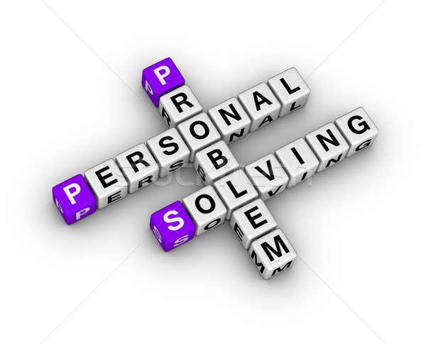 Problémamegoldás keresztrejtvény levél szolgáltatás siker támogatás Stock fotó © almagami