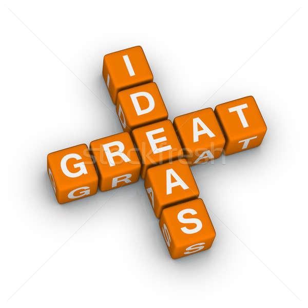 Magnifique idées icône design croix orange Photo stock © almagami