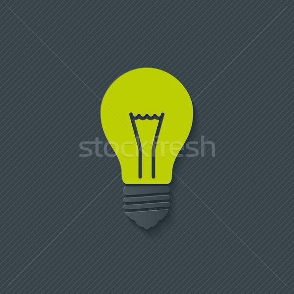 żarówka wektora eps10 świetle technologii pomarańczowy Zdjęcia stock © almagami