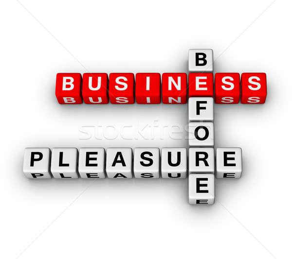 Business plezier teken tijd succes kubus Stockfoto © almagami