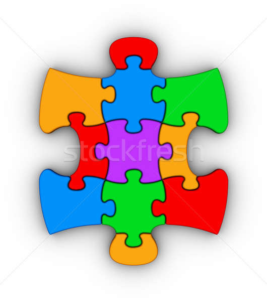 colorful jigsaw piece Stock photo © almagami