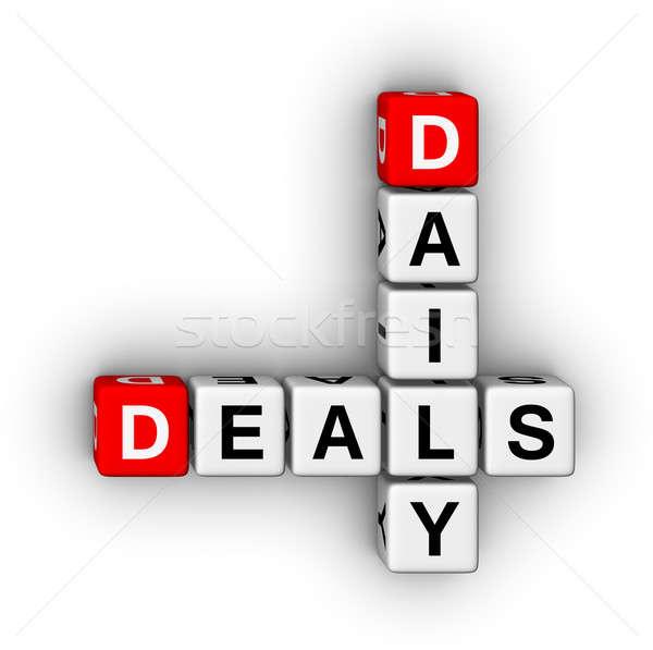 ежедневно кроссворд головоломки символ торговых Сток-фото © almagami