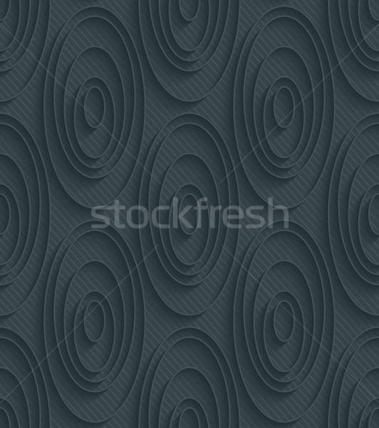 Escuro papel efeito 3D sem costura Foto stock © almagami