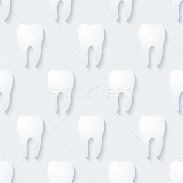 Diş 3D vektör eps10 doktor Stok fotoğraf © almagami