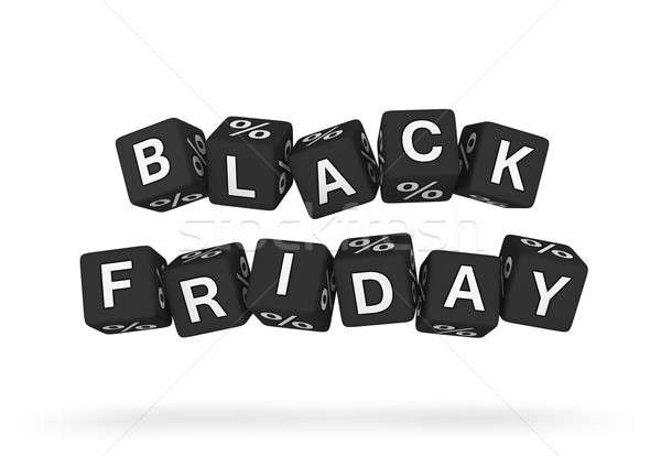 Black friday signo financiar negro cliente Foto stock © almagami