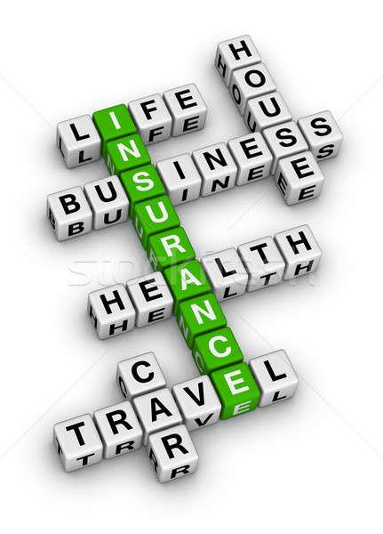 insurance crossword Stock photo © almagami
