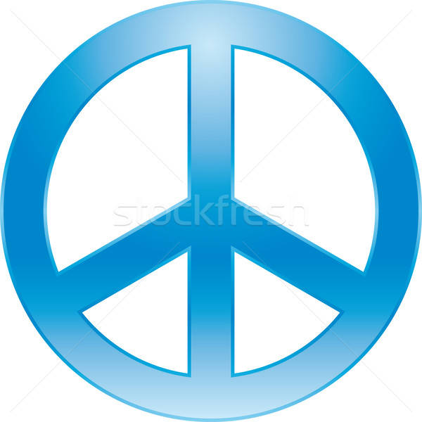 Barış simge imzalamak mavi renk özgürlük Stok fotoğraf © almagami
