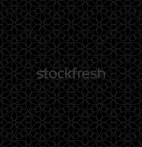 Neutral Seamless Linear Geometric Pattern. Stock photo © almagami