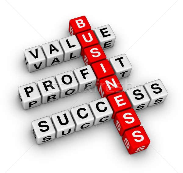 Basis business kruiswoordraadsel Rood kleur succes Stockfoto © almagami
