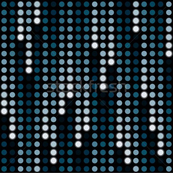 Kosmisch regen halftoon abstract ontwerp Blauw Stockfoto © almagami