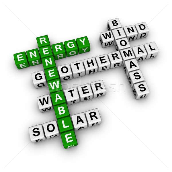 Energii ze źródeł odnawialnych krzyżówka wody słońce energii biały Zdjęcia stock © almagami