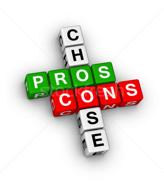 pros and cons Stock photo © almagami