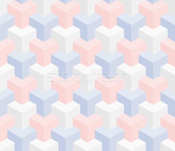 Isométrica 3D pastel textura Foto stock © almagami