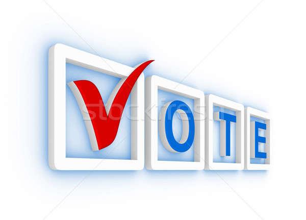 голосования проверить коробки Label тег Сток-фото © almagami