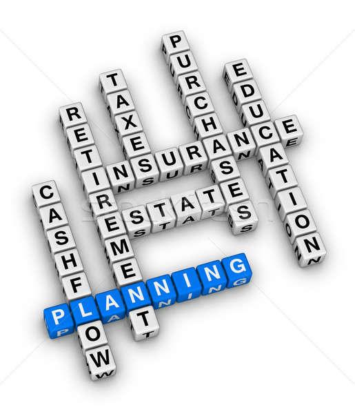 личные финансовое планирование кроссворд головоломки семьи деньги Сток-фото © almagami