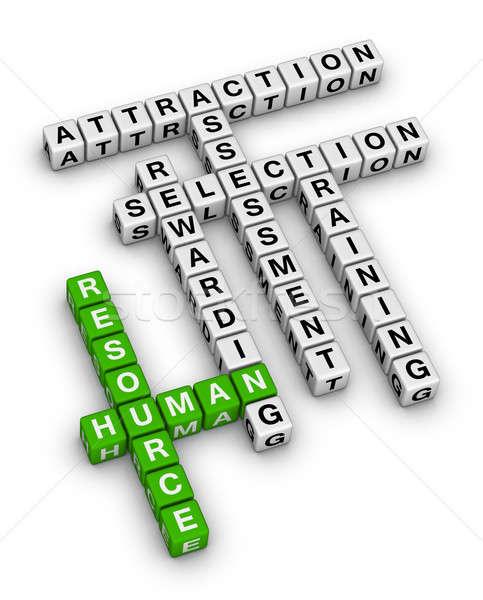 Humanismo recurso palavras cruzadas quebra-cabeça educação Foto stock © almagami