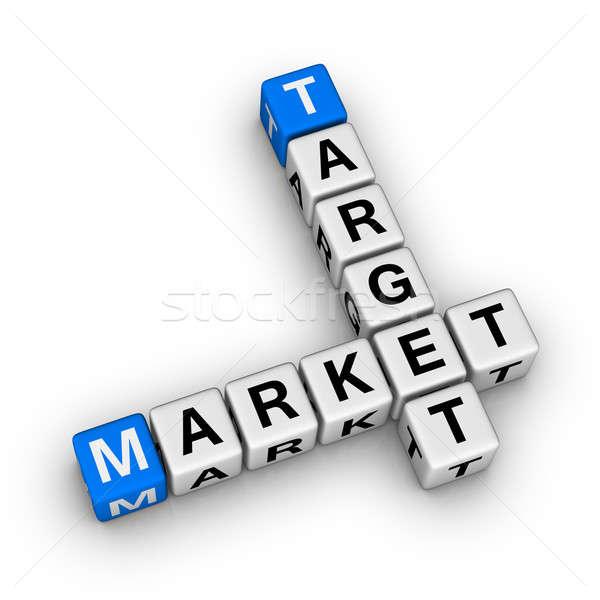 Zdjęcia stock: Cel · rynku · krzyżówka · symbol · projektu · mediów