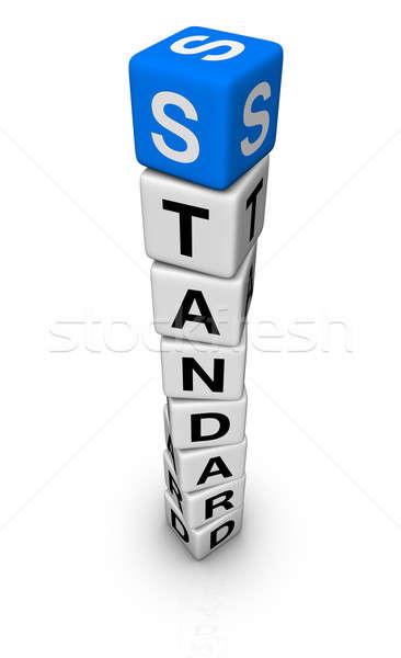 Standart simge mavi beyaz destek kule Stok fotoğraf © almagami