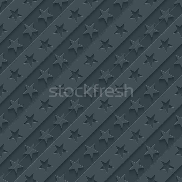 Gwiazdki tapety 3D bezszwowy wektora Zdjęcia stock © almagami