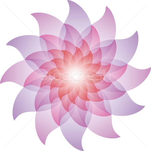 Beautiful Purple Lotus Flower Icon. Stock photo © almagami