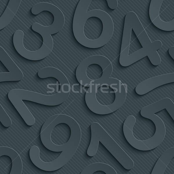 Dunkel Papier Wirkung abstrakten 3D Stock foto © almagami