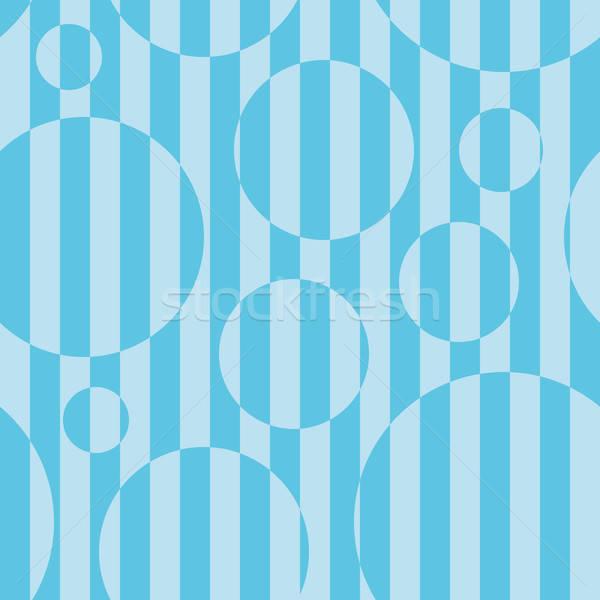Pasiasty bezszwowy niebieski kolor złudzenie optyczne efekt Zdjęcia stock © almagami