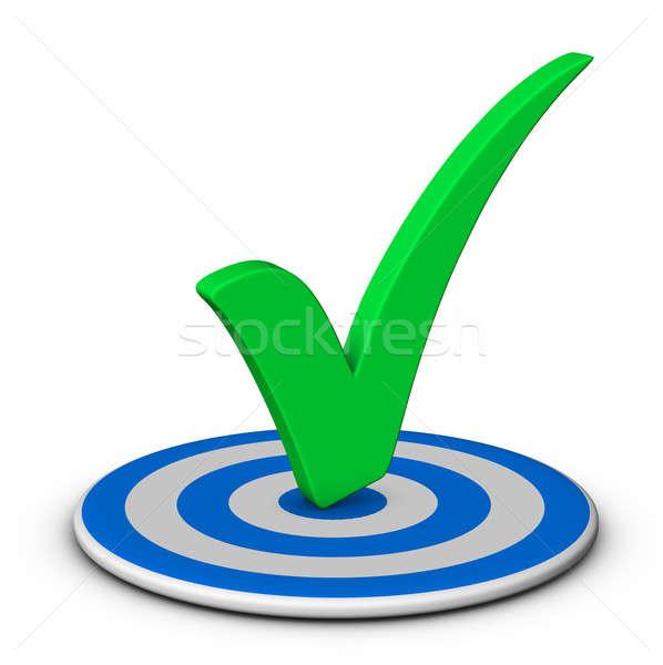 Stok fotoğraf: Kontrol · hedef · mavi · başarı · pazarlama