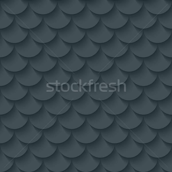 Dark gray fish scale seamless background. Stock photo © almagami