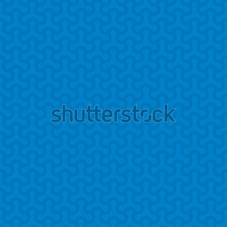Stock photo: Rounded lines seamless vector pattern.