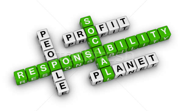 Social responsabilidad crucigrama rompecabezas negocios educación Foto stock © almagami