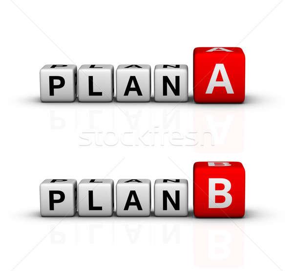 Plan b ikon imzalamak kırmızı plan fikir Stok fotoğraf © almagami