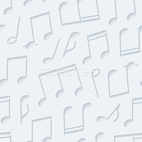 Light gray musical wallpaper. Stock photo © almagami