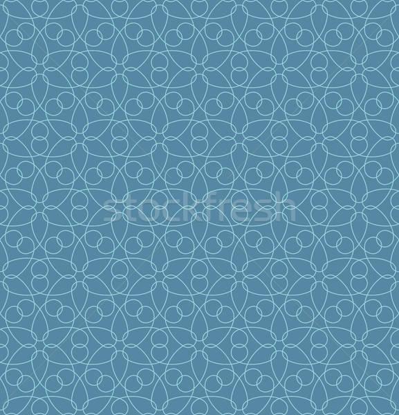 Neutral Seamless Linear Geometric Pattern. Stock photo © almagami