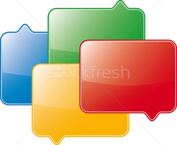 Forum symbole vecteur design orange boîte Photo stock © almagami