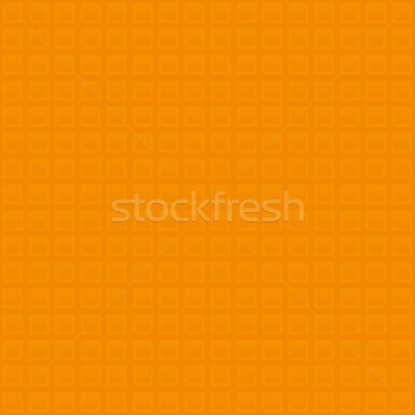 Waffle minta narancs semleges végtelen minta modern Stock fotó © almagami