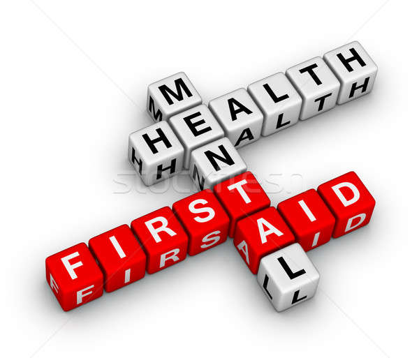 mental health first aid crossword Stock photo © almagami