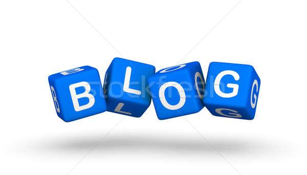Blog szimbólum hírek doboz hálózat háló Stock fotó © almagami