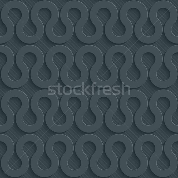 Escuro papel efeito abstrato 3D Foto stock © almagami
